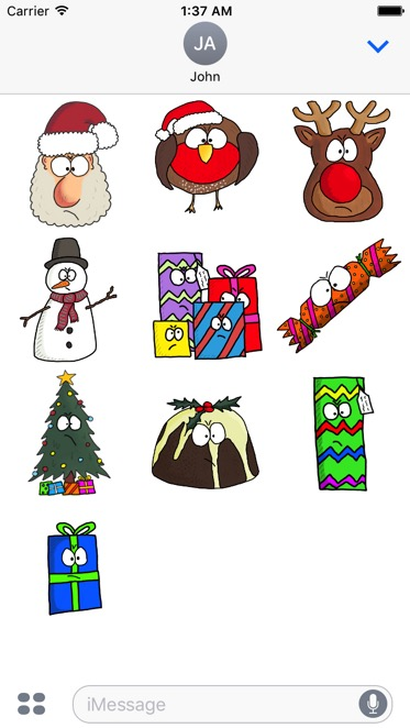 Grumpy Xmas Stickers